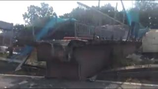 Footage filmed by Chris Alchim shows the aftermath.