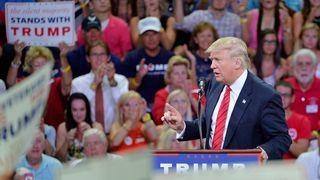 Donald Trump spoke at a rally in Wilmington, North Carolina