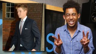 Jordan Stephens and Harley Alexander-Sule of Rizzle Kicks pose for pictures during a visit to the Kiss FM Studio's. Inset:  Hugh Richard Louis Grosvenor'