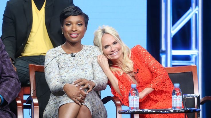 Actresses Jennifer Hudson (L) and Kristin Chenoweth take part in the Hairspray Live! panel discussion during the NBCUniversal portion of the 2016 Television Critics Association Summer Tour in Beverly Hills