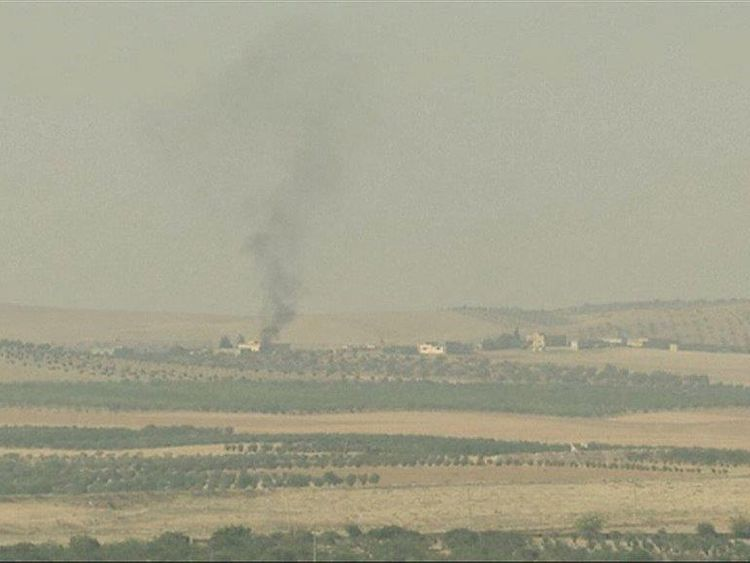 Smoke rising from northern Syria as Turkey continues its offensive