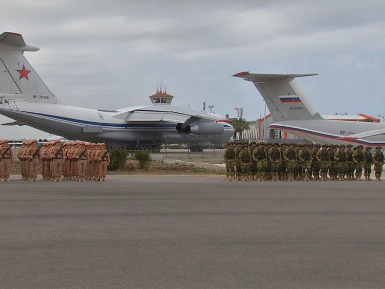 The men say they were taken from Russia to Syria on Russian military aircraft