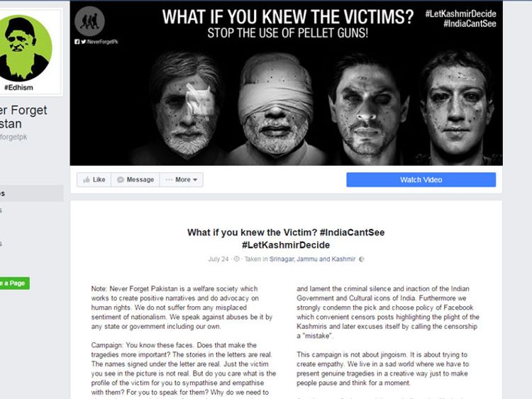 Mark Zuckerberg is among the celebs featured in the Never Forget Pakistan Facebook campaign