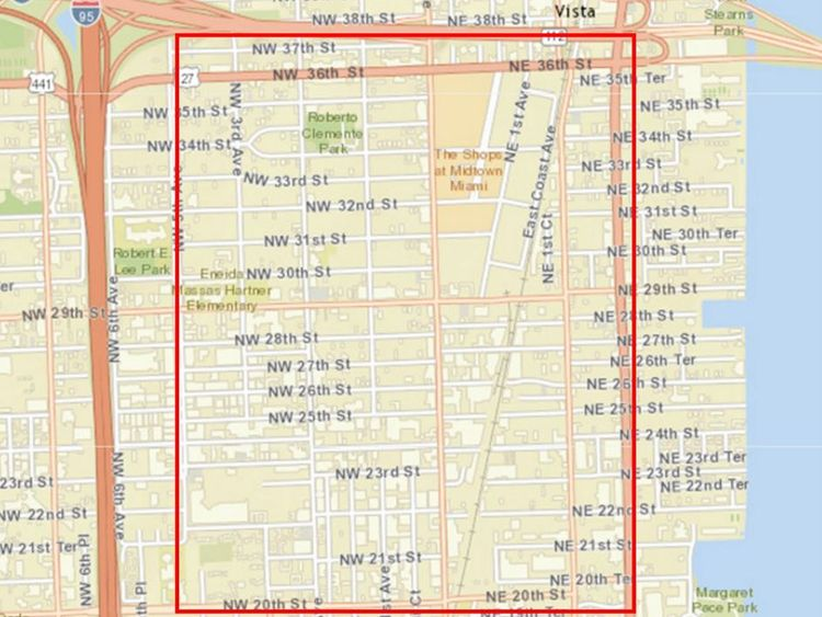 The area in Miami covered by the CDC's warning is about one square mile