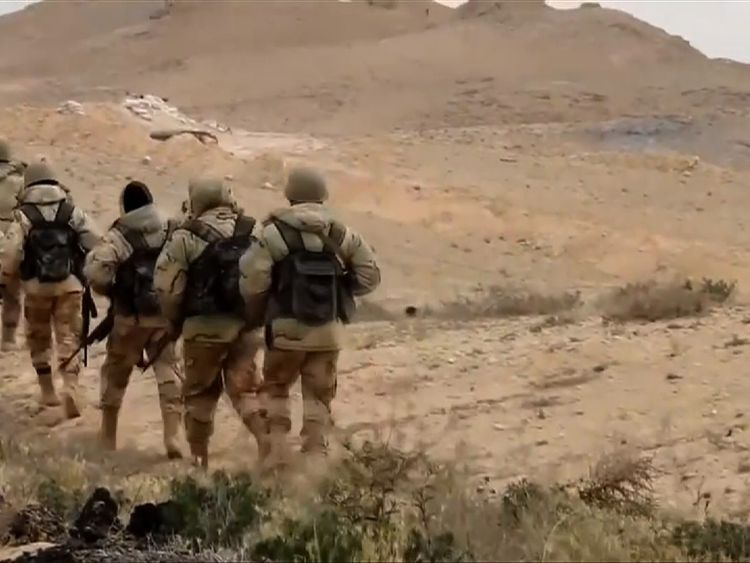 Some of the men Sky News spoke to say they took part in the battle for Palmyra