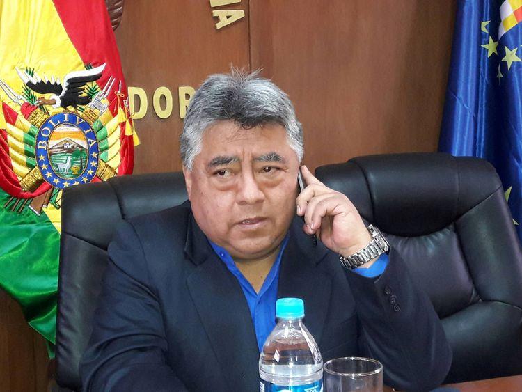 Bolivian deputy interior minister Rodolfo Illanes