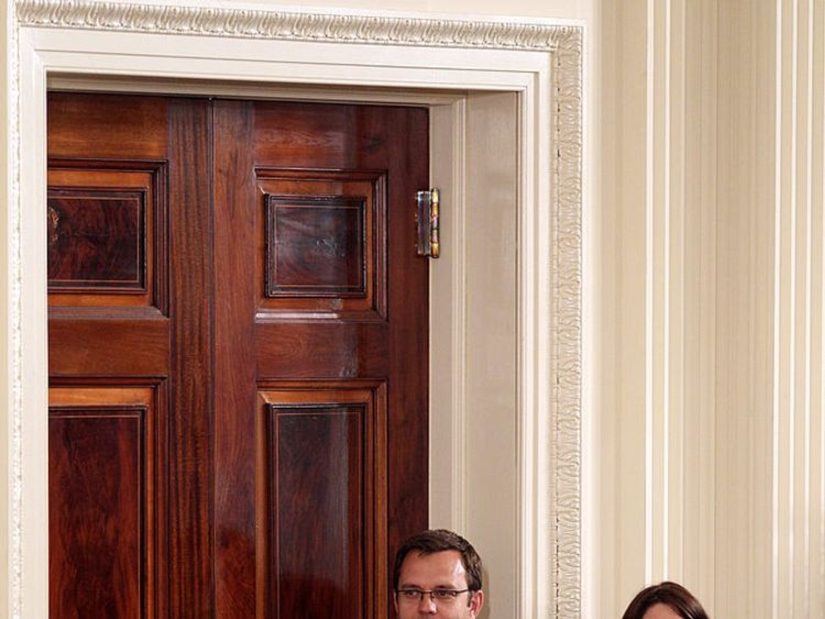 Gabrielle Bertin alongside Andy Coulson when both were part of the No 10 team
