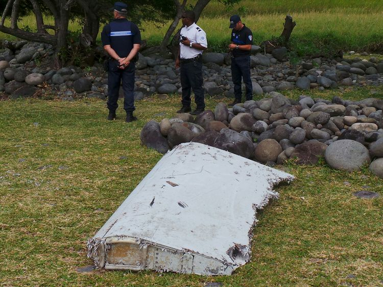 The section of MH370 wing washed up on Reunion island