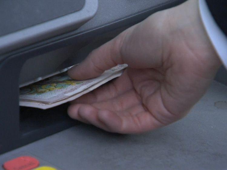 Cash machine in the UK