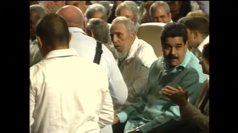 Fidel Castro at a celebration for his 90th birthday