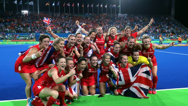 Team GB have won their first ever gold in women's hockey