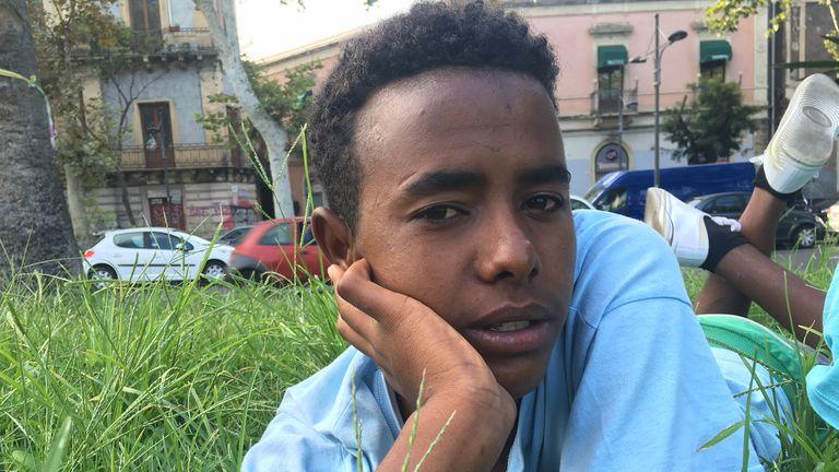 Eritrean migrant Ermias Haile, 16