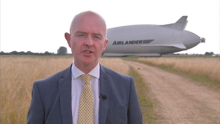 Chief Executive of Hybrid Air Vehicles Stephen McGlennan talks about Airlander
