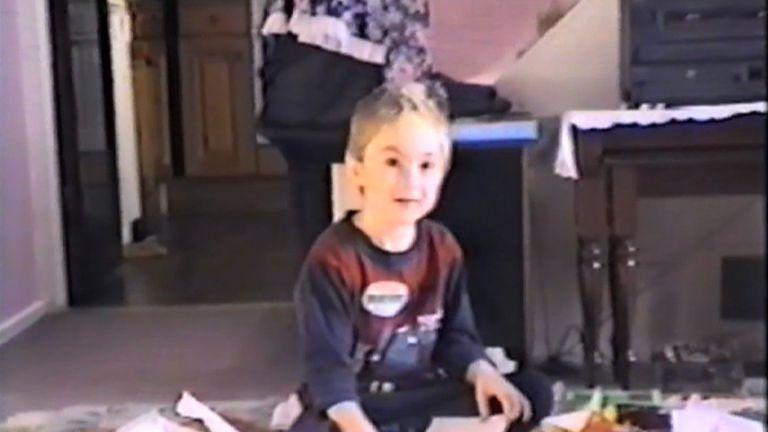 Asperger syndrome sufferer Josh Martin as a child