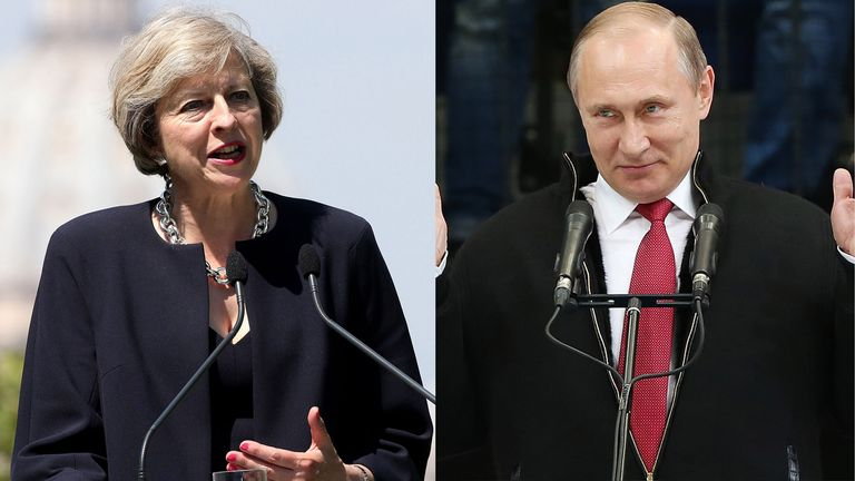 PM Theresa May and Vladimir Putin have spoken for the first time