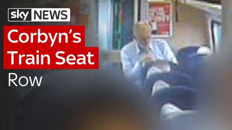 Jeremy Corbyn's train seat row