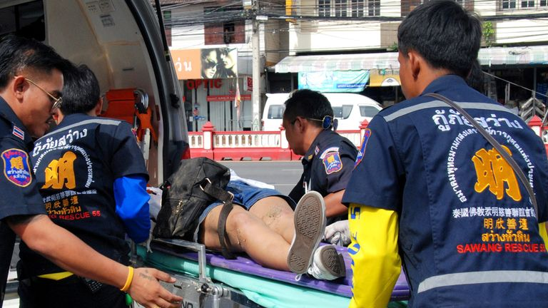 The injured are taken to hospital