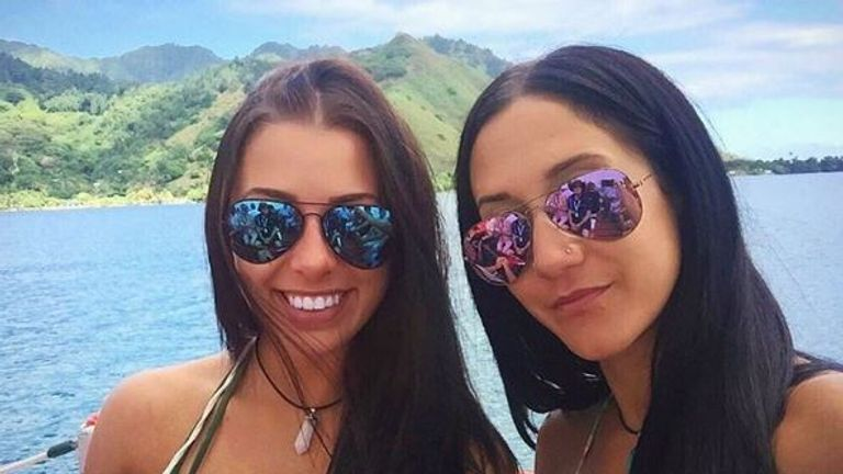 Mélina Roberge, 23, and Isabelle Lagacé, 28, posted pictures of their trip on Instagram