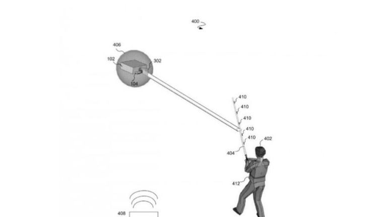 A sketch in Disney's patent application shows how the battles would work