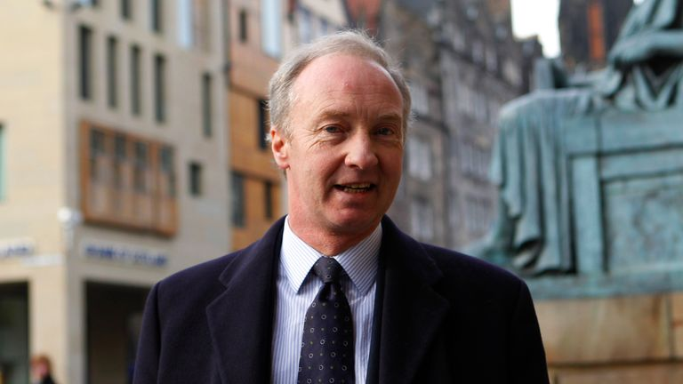 Richard Scott, the 10th Duke of Buccleuch, arrives at the High Court of Scotland building in Edinburgh, Scotland to give evidence in a trial of five men accused of plotting to extort millions of pounds from his family March 3, 2010
