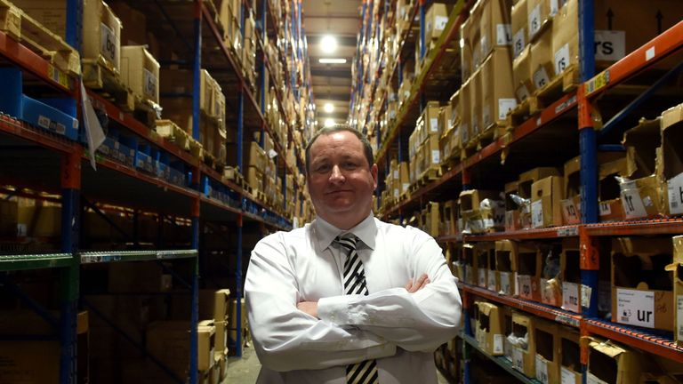 Sports Direct boss Mike Ashley