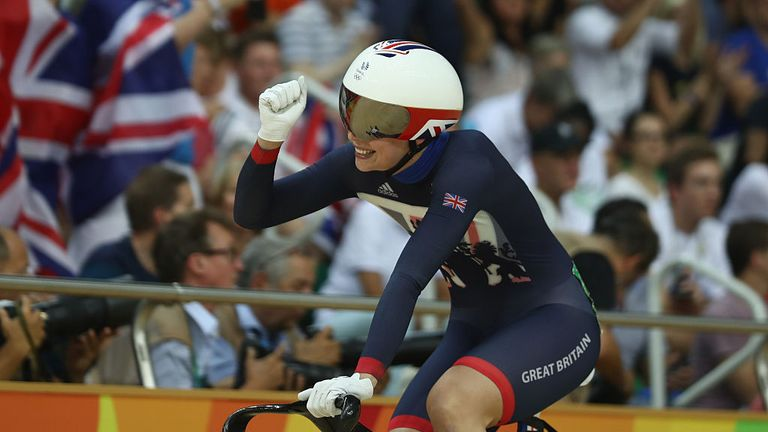 Women's sprint silver medallist Becky James