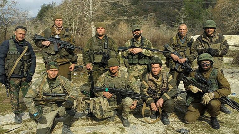 Photos apparently captured by Islamic State fighters during the battle for Palmyra appear to show Russian mercenaries in Ukraine