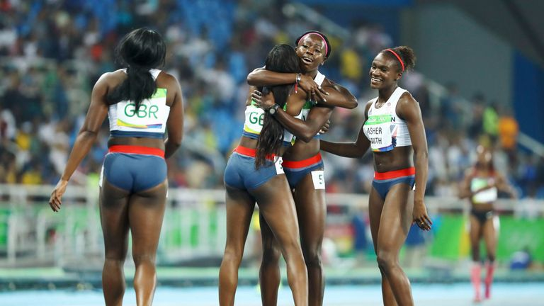 Team GB won bronze in the women's 4x100m relay - the first medal in the event for Great Britain since 1984