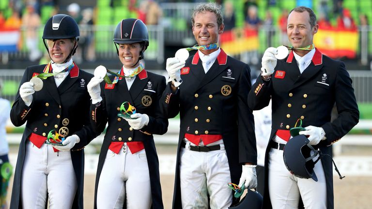 Fiona Bigwood, Charlotte Dujardin, Carl Hester and Spencer Wilton
