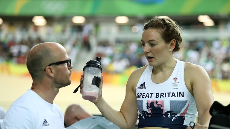 Women's sprint silver medallist Katy Marchant