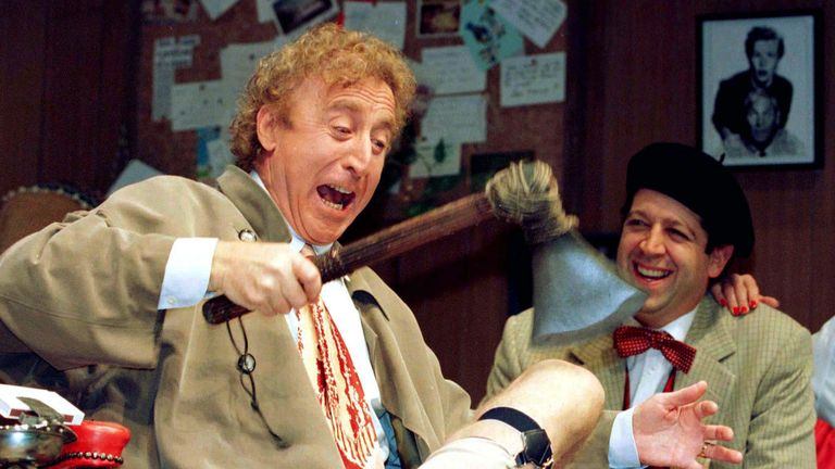 Gene Wilder and Rolf Saxon
