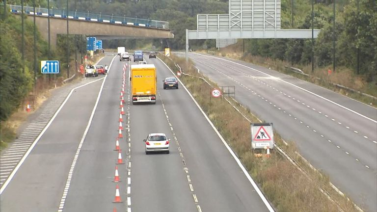One side of the M20 reopens after half of the bridge collapsed