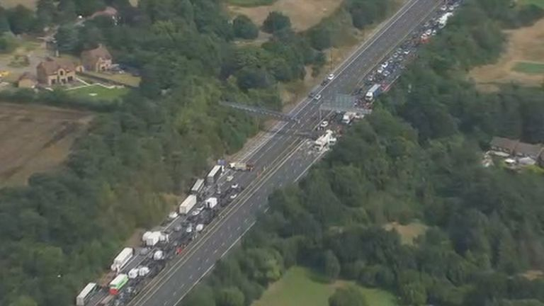 """Kent Police has warned that traffic """"will be heavier than usual"""""""