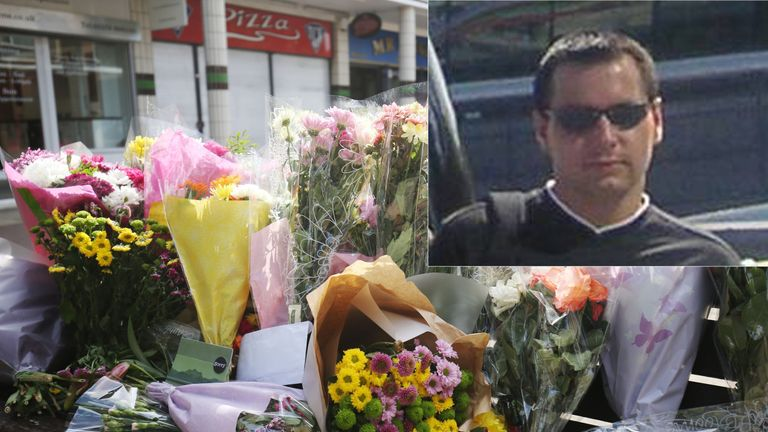 Flowers have been left at The Stow in Harlow following the death of a 40-year-old man, named locally as Arkadiusz Jozwik