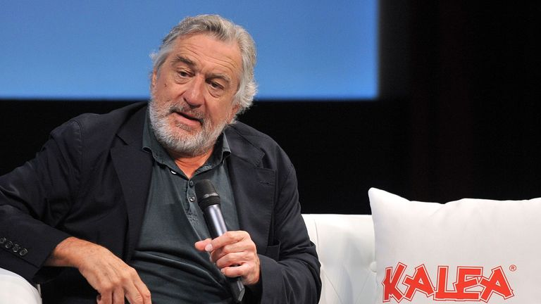 Robert De Niro speaks at a 'Coffee With' event at Sarajevo Film Festival where he was promoting the restored version of Martin Scorcese's Taxi Driver