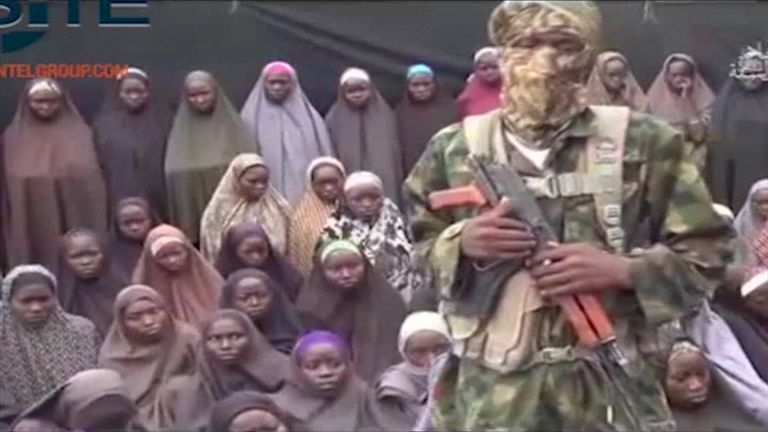 Boko Haram video purportedly showing some of the schoolgirls captured in Chibok