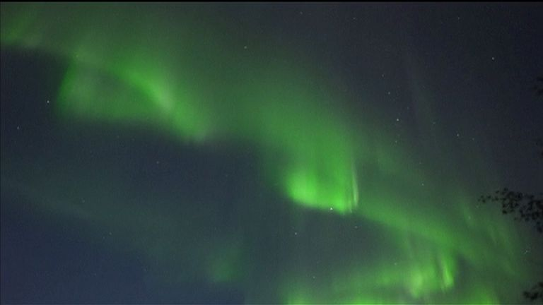 Northern lights seen from Lapland