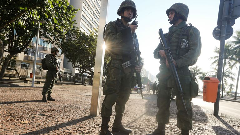 Brazilian soldiers in Rio