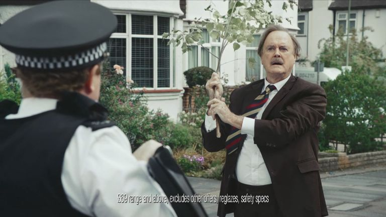 John Cleese starred in one of the better-known 'should've gone to Specsavers' ads