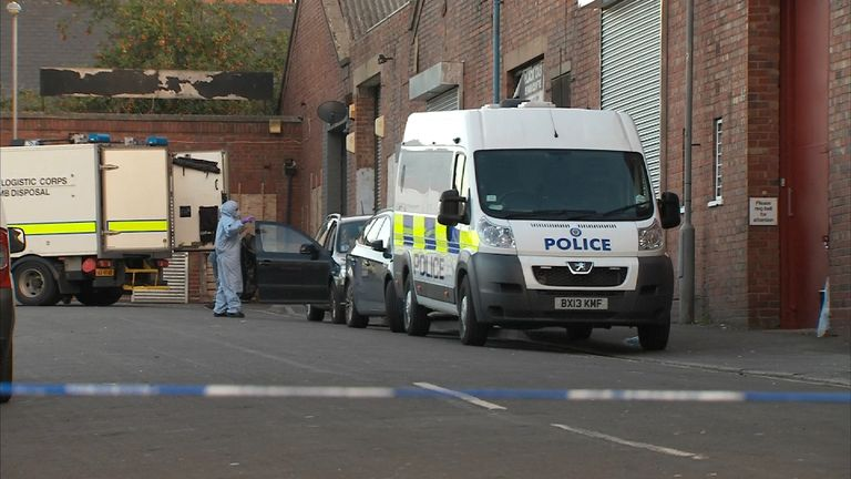 Police and an Army bomb disposal unit were called to Birmingham after terror arrests