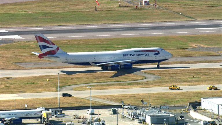 Team GB land at Heathrow