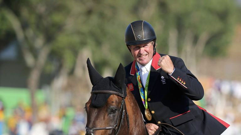 Nick Skelton had been told he would never ride again after breaking his neck in 2000