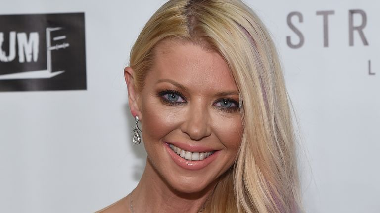 Actress Tara Reid attends the premiere of her new film, Syfy's Sharknado: The 4th Awakens, in Las Vegas, Nevada