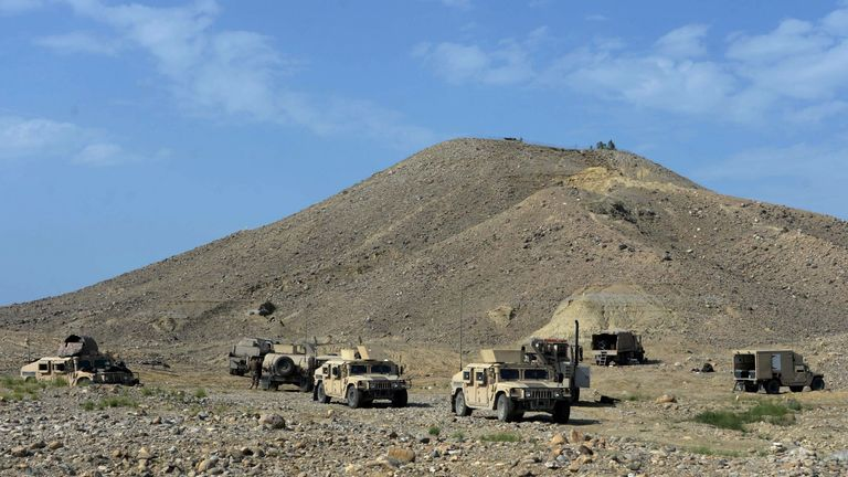 Kot District in Afghanistan has been patrolled by Afghan security forces. File picture