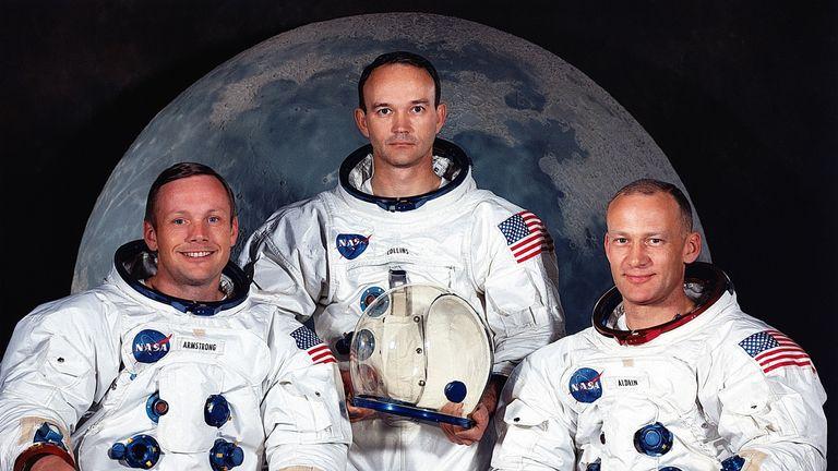 Apollo 11's crew: Neil Armstrong, Michael Collins, and Buzz Aldrin
