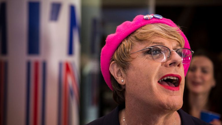 Eddie Izzard joins supporters of the Stronger In Campaign as they gather to wait for the result of the EU referendum at the Royal Festival Hall, in London