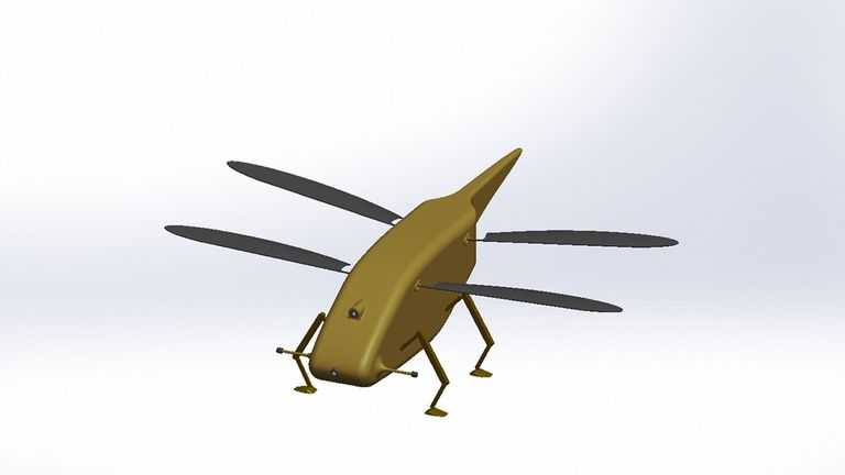 The Dragonfly drone can be used to snoop on the enemy