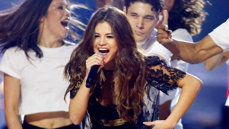 Selena Gomez performs during We Day California - an event to motivate young people into taking action on local and global issues