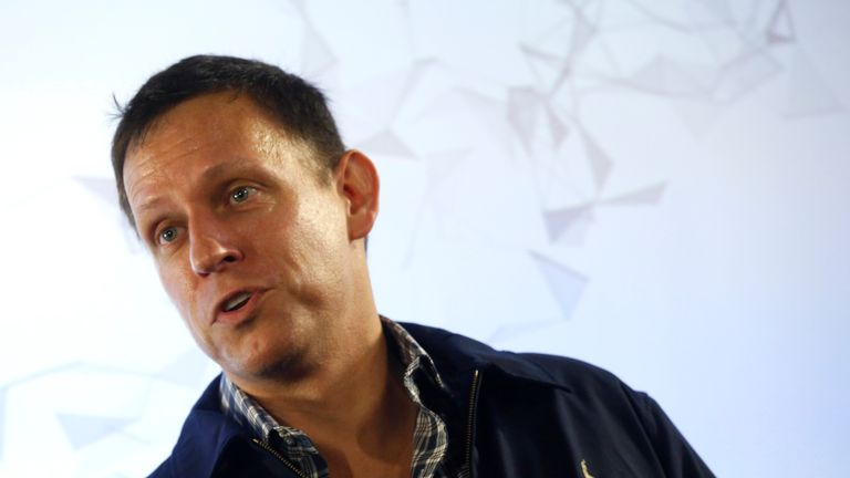 Peter Thiel, the Silicon Valley investor who co-founded PayPal,