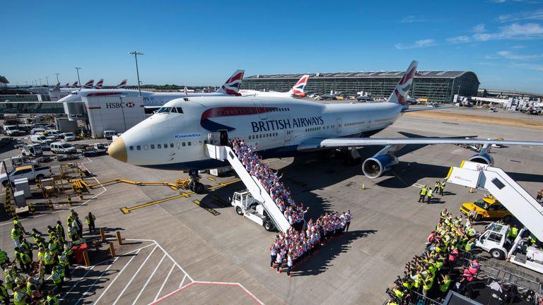 Team GB arrives at Heathrow